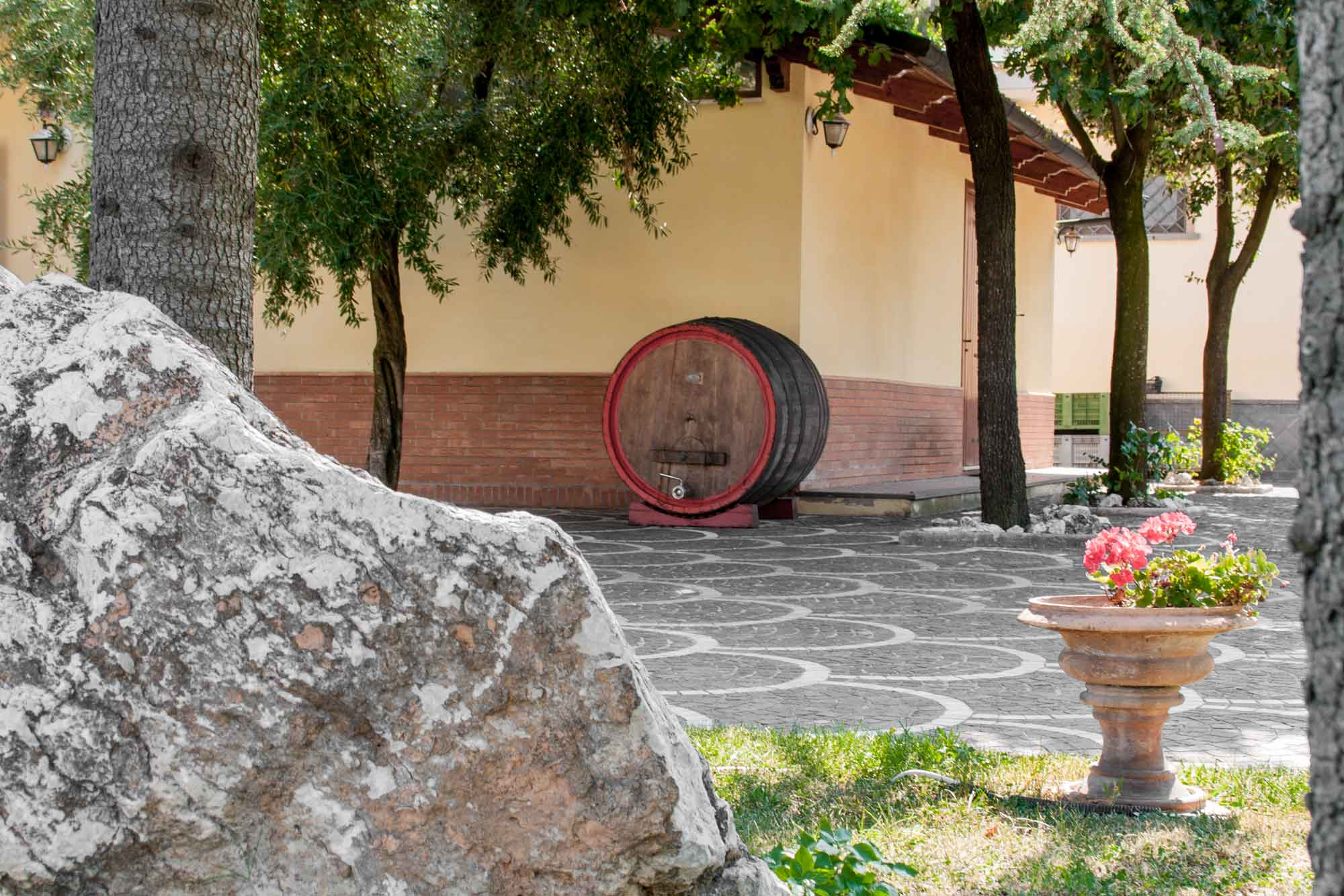 Barrel outside Cantine Astroni